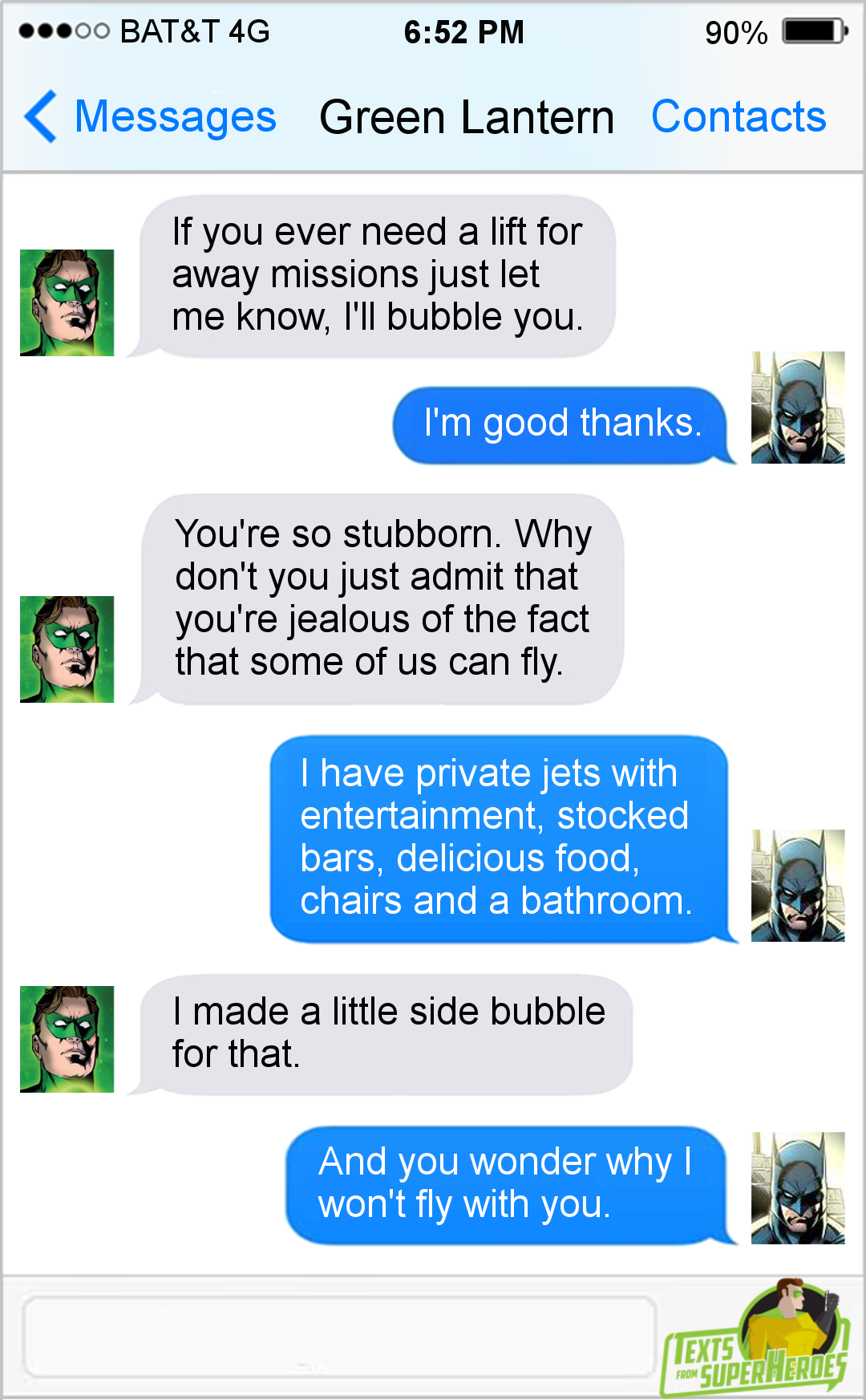Texts From Superheroes Facebook | Twitter | Patreon | Super Heroes
