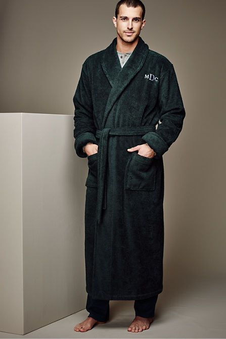 Mens Full Length Turkish Terry Robe Does He Come With It