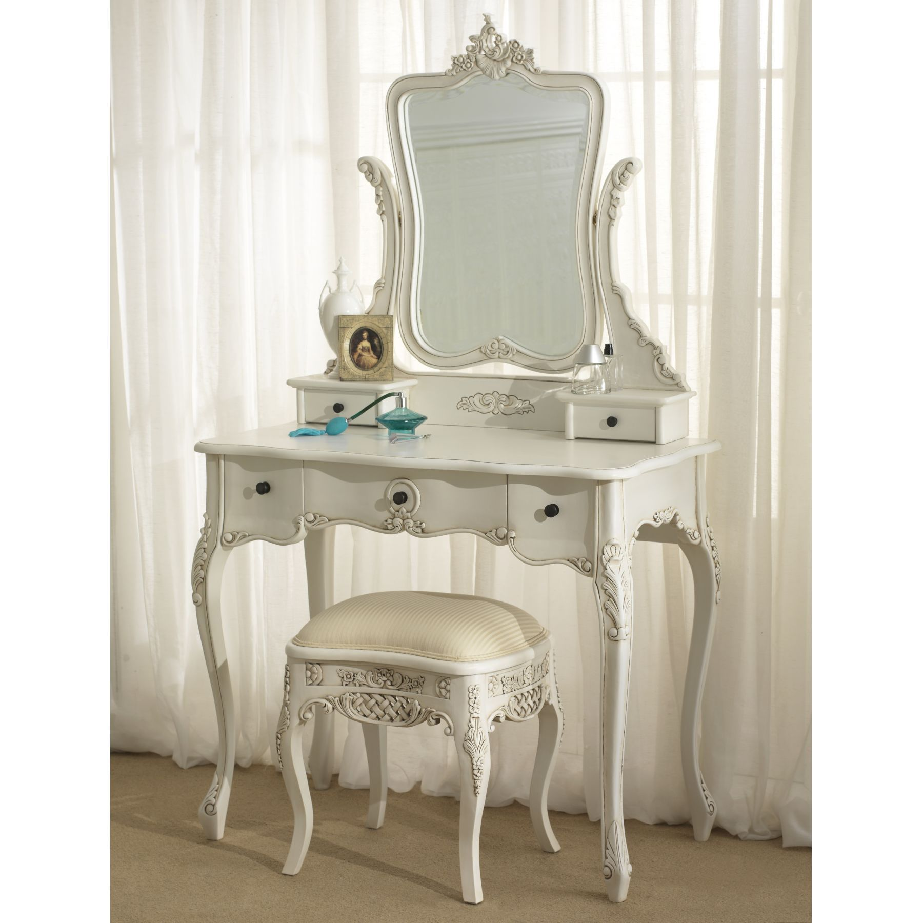 Bedroom furniture dressing table - Antique French Dressing Table Set Ref La La La Rochelle Antique