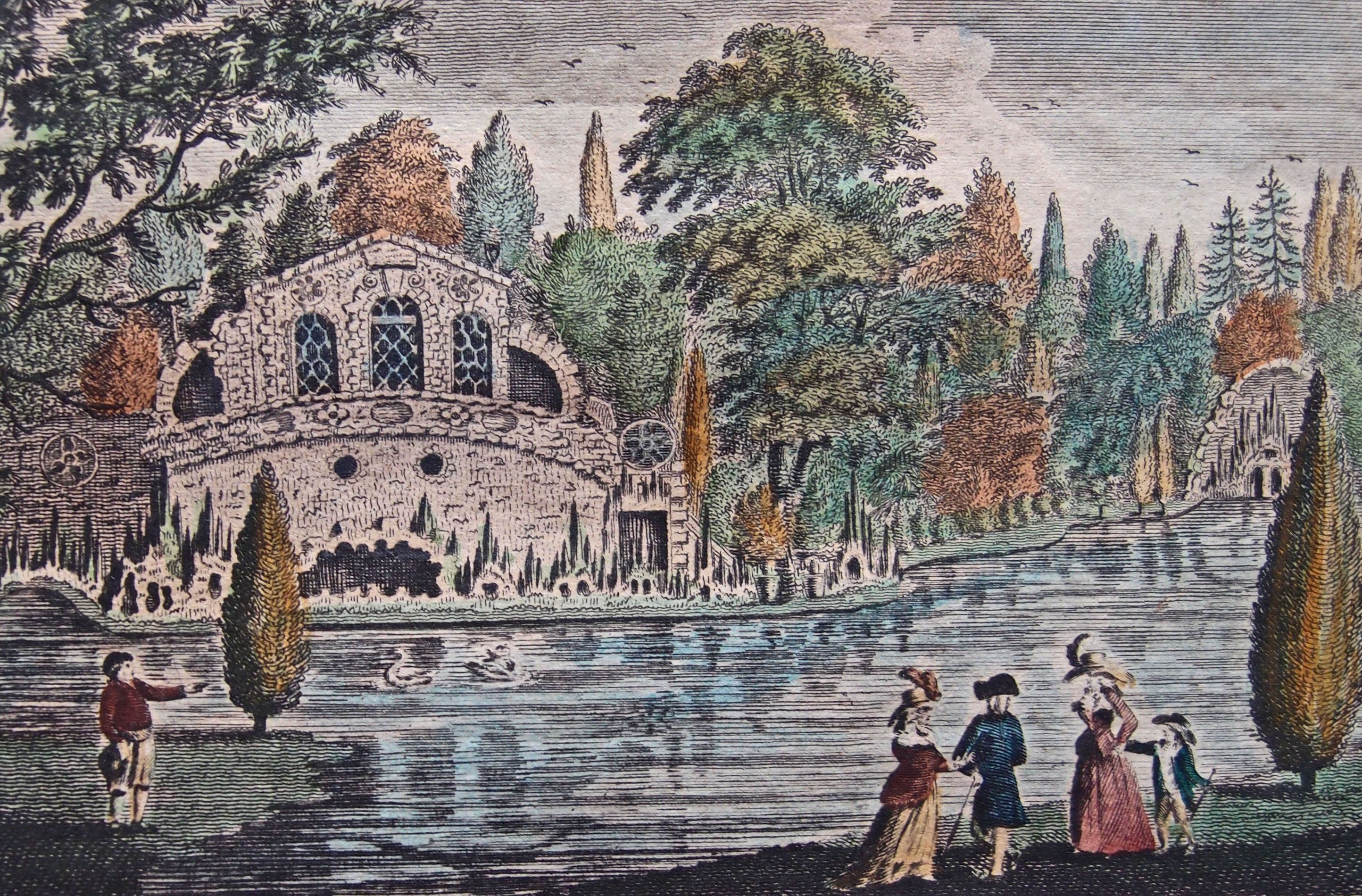 Oatlands grotto Weybridge Surrey famous in its heyday in mid 18th century blown up by its owners in 1948 when the house was a hotel