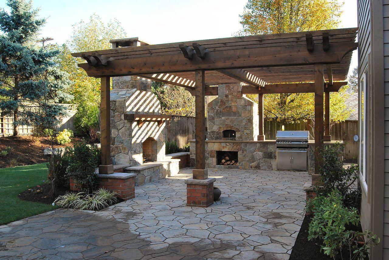 Jardines rusticos barbacoas dise o de jardines patios pergola y backyard patio - Barbacoas rusticas ladrillo ...