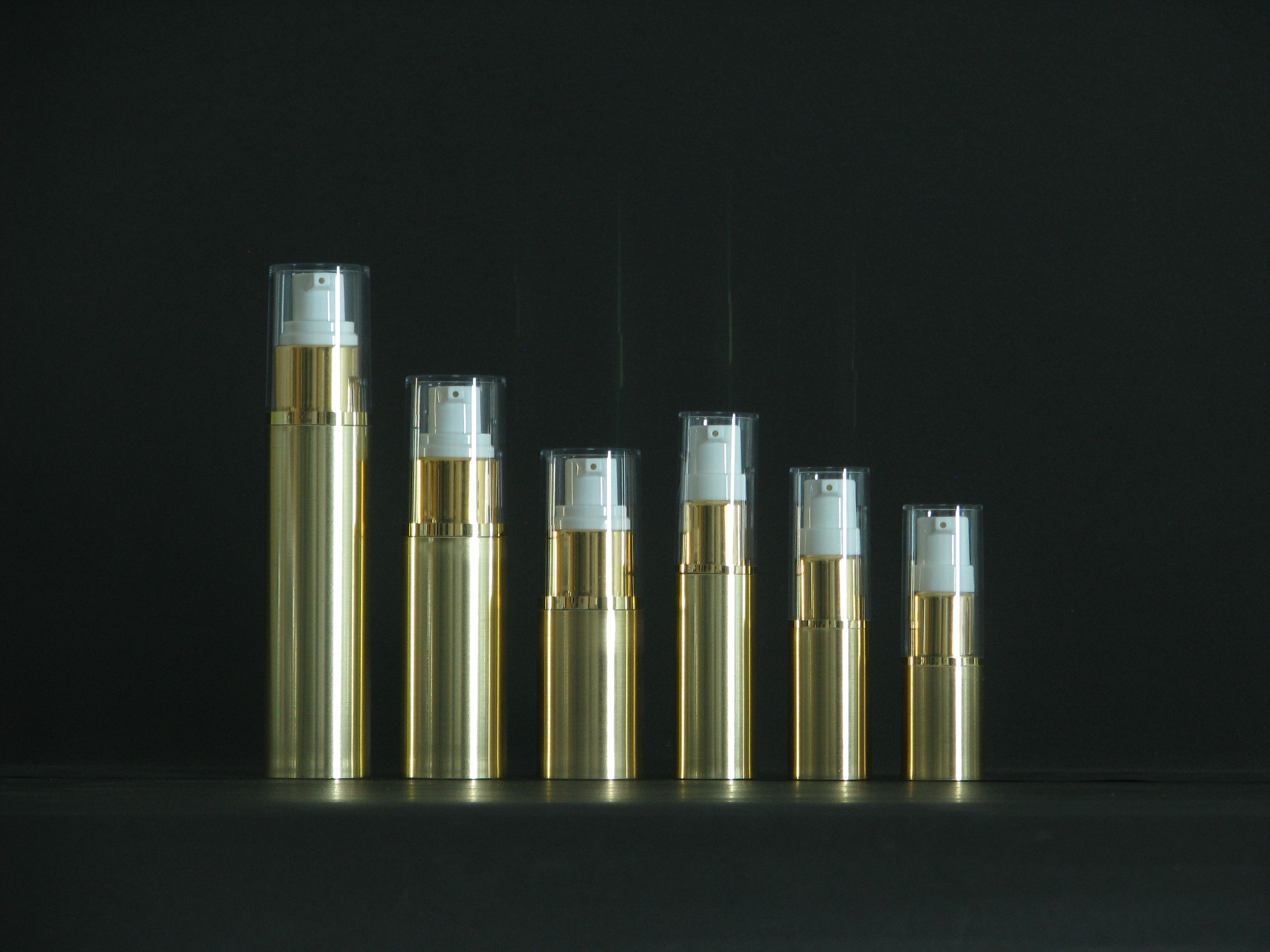 7ml50ml Gold Color Wholesale Airless Cosmetic Packaging