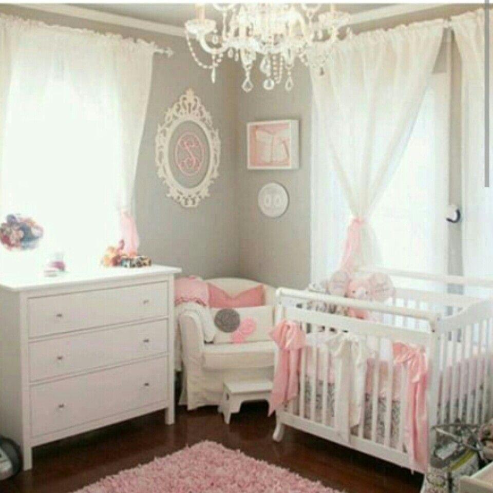 Quarto Cinza E Rosa Habitaci N Pinterest Quartos Cinzas  ~ Organizar Quarto Muito Bagunçado Com Tema Quarto De Bebe Feminino