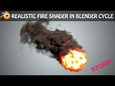 Realistic fire shader in blender cycles || cycles render || Quick
