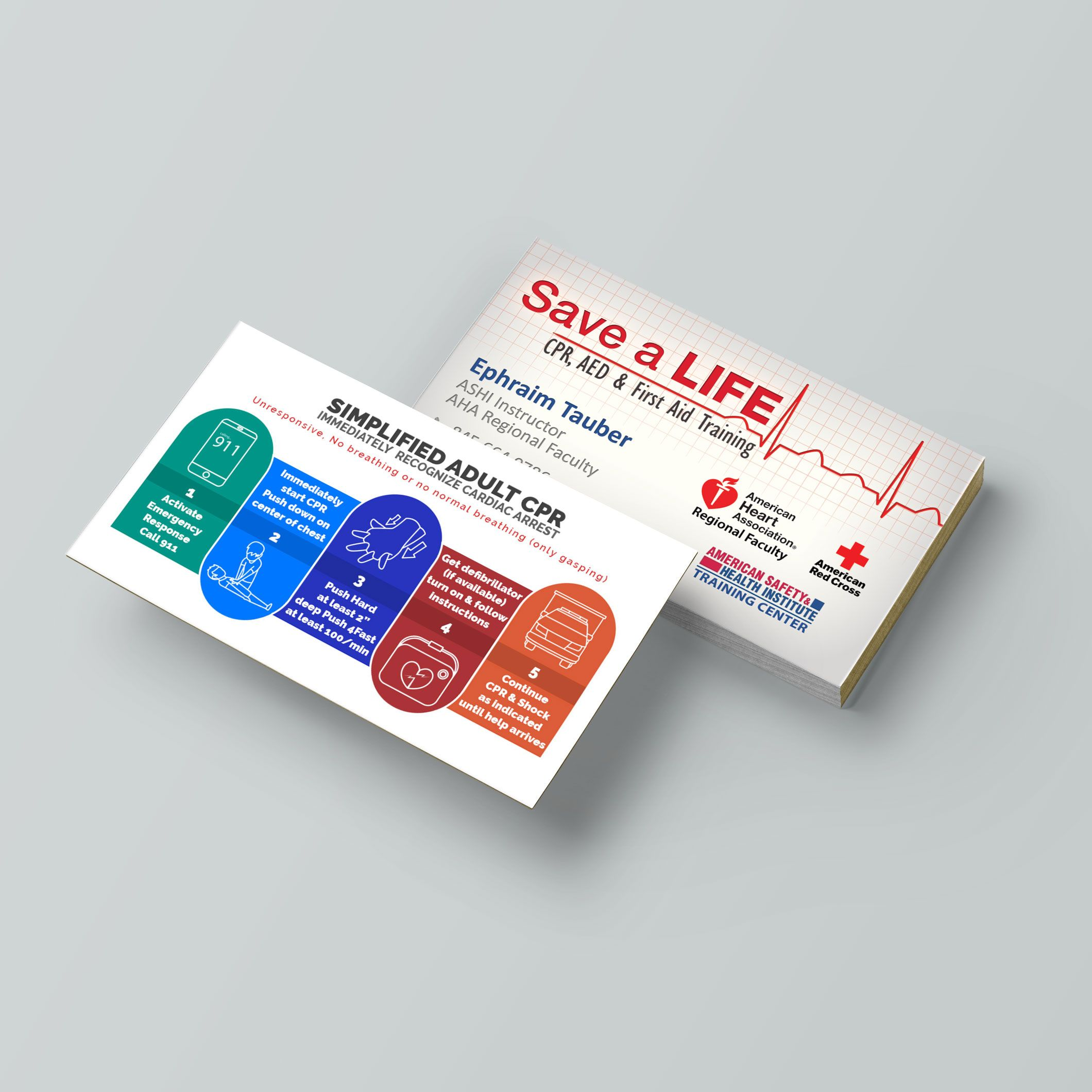 Cpr Instructor Business Cards Small Business Start Up Cpr Business Cards Creative