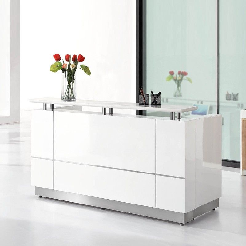Modern Office Furniture Reception Desk Alluring Design Inspiration