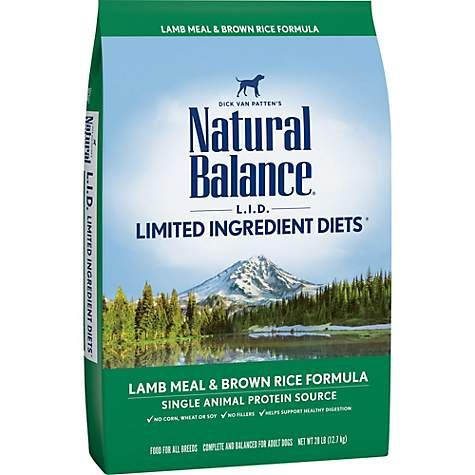 Natural Balance L I D Limited Ingredient Diets Lamb Meal Brown