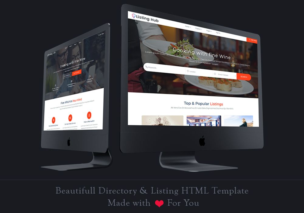 Listing hub is the best business directory listings template build listing hub is the best business directory listings template build on boostrap 37 with more flashek Choice Image