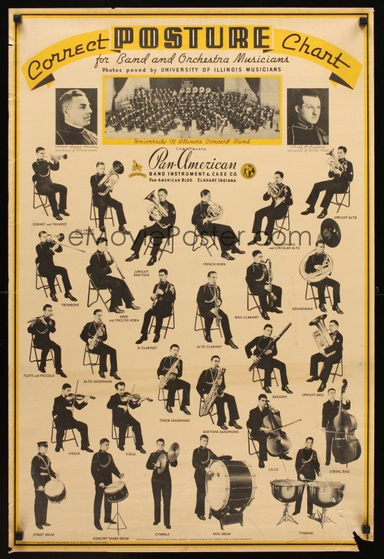 Vintage Correct Posture Chart For Musicians  Fortunately Now There Are Alexander Technique