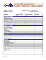 Apartment Walk Through Checklist Form - Latest BestApartment 2018