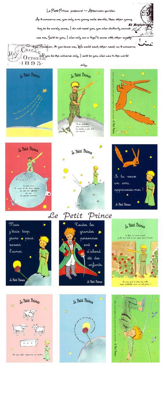 El Principito Le Petit Prince postales Set 12 por StickerParadise