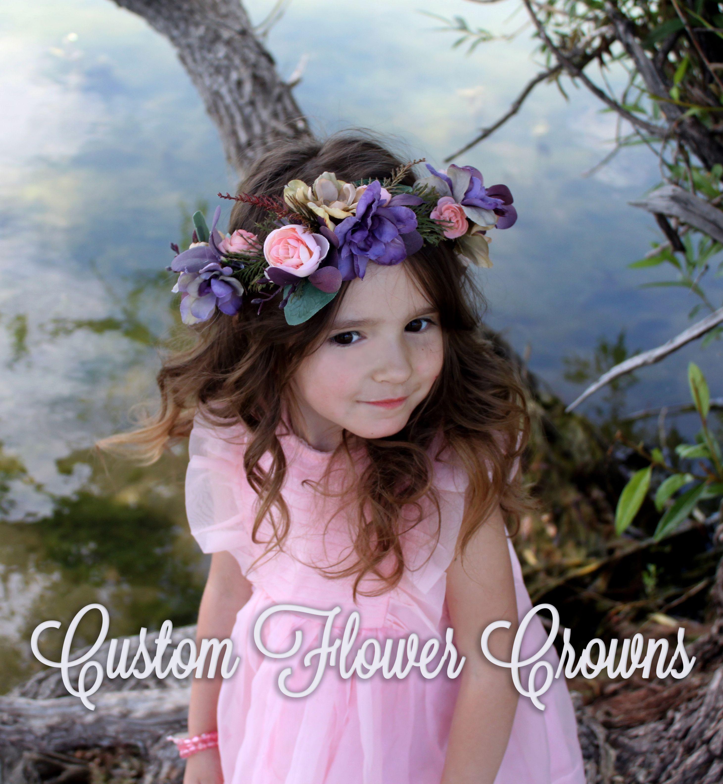 Flower Crown Etsy Custom Floral Wreath Childs Hair Flower