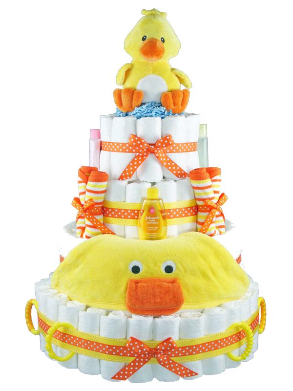 sunny duck diaper cake2