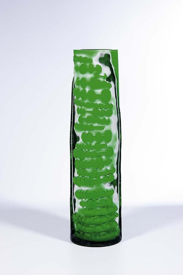 Karel Wuensch 1993 Vase H 38 0 Cm Glassworks Borske Sklo