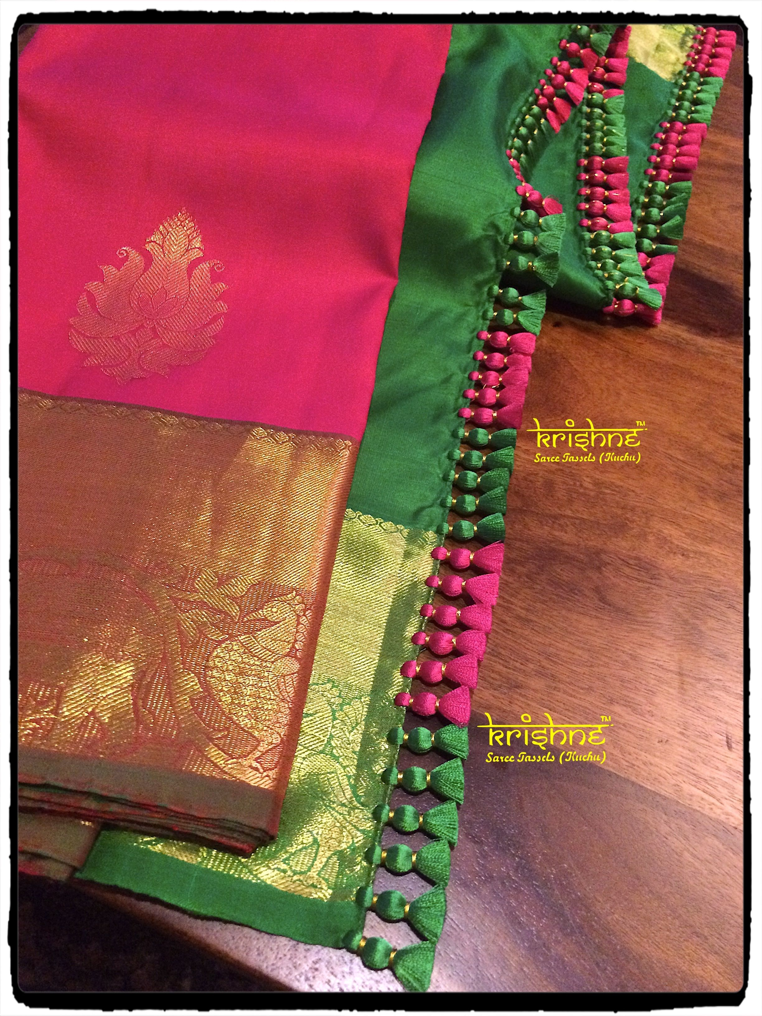 53379fcb9b4bbe Wedding Silk Saree Tassels | Crochet Saree Kuchu Designs | Krosha ...