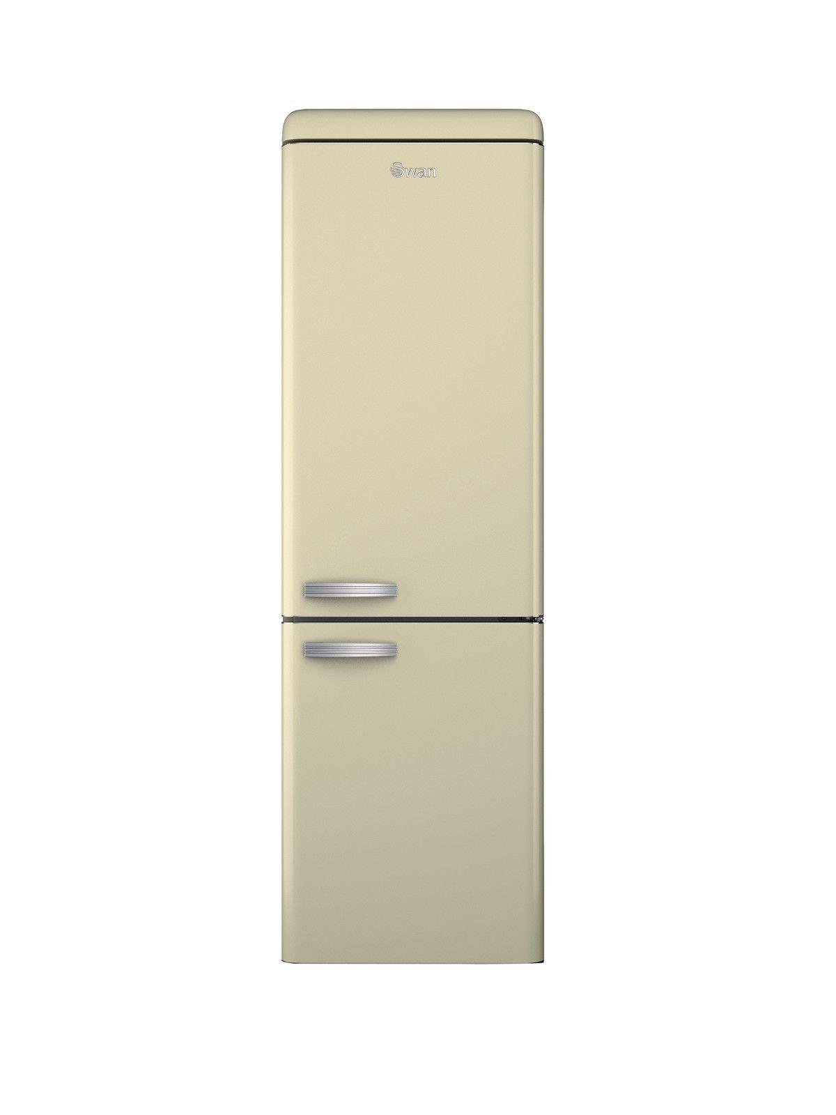 swan sr11020c 60 cm retro fridge freezer cream. Black Bedroom Furniture Sets. Home Design Ideas