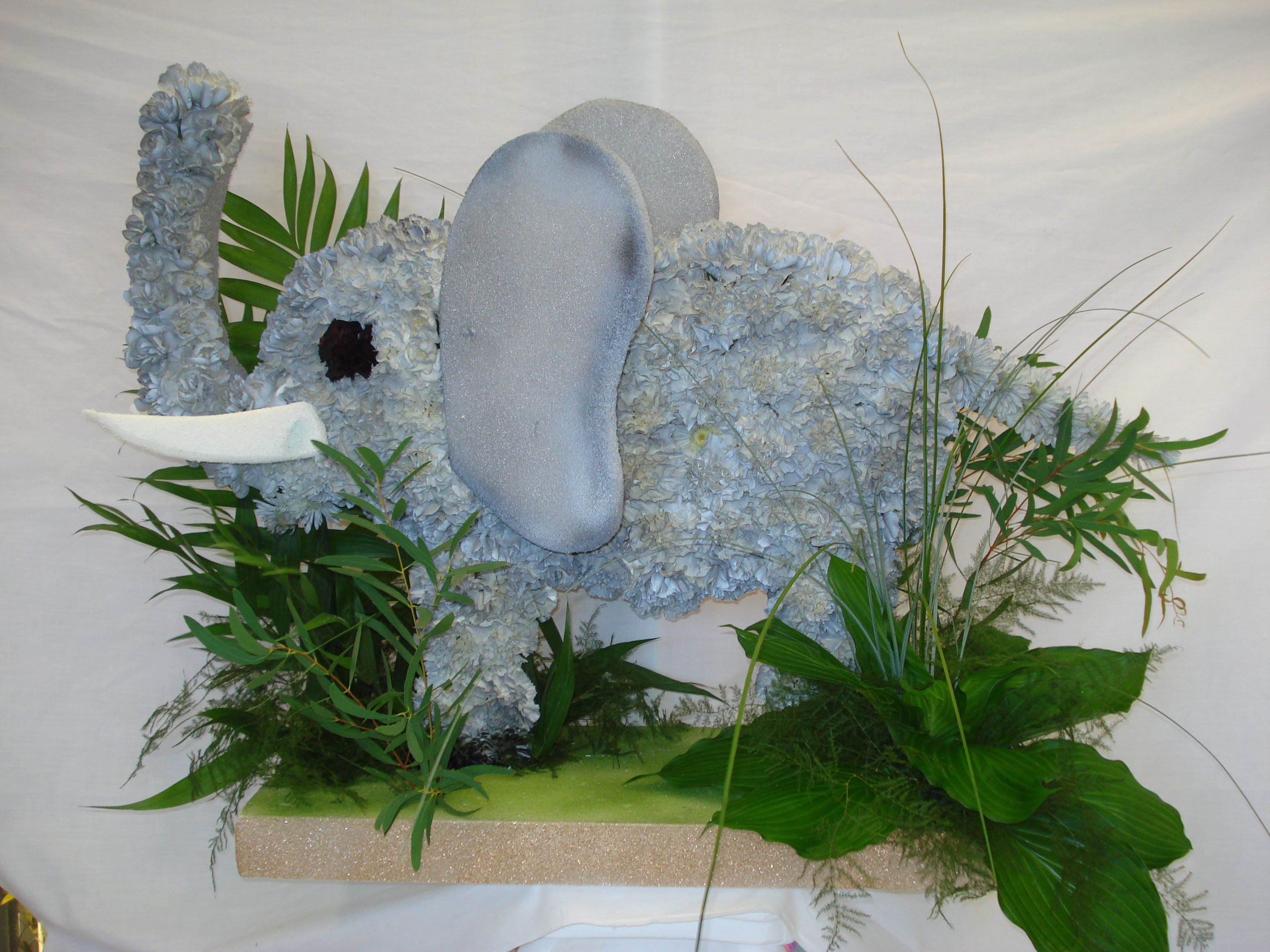 Elephant custom funeral flowers best funeral flowers pinterest elephant custom funeral flowers izmirmasajfo Choice Image