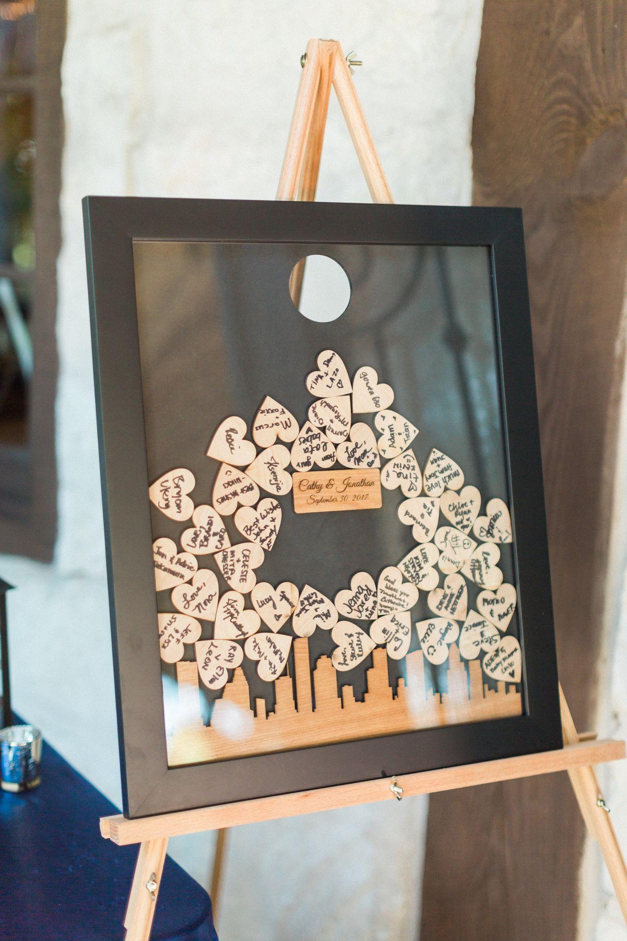 Unique wedding guest book idea  DIY wedding guest book idea  DIY