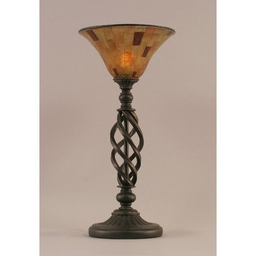 """Toltec Lighting Elegante 20.5"""" H Table Lamp with Empire Shade"""