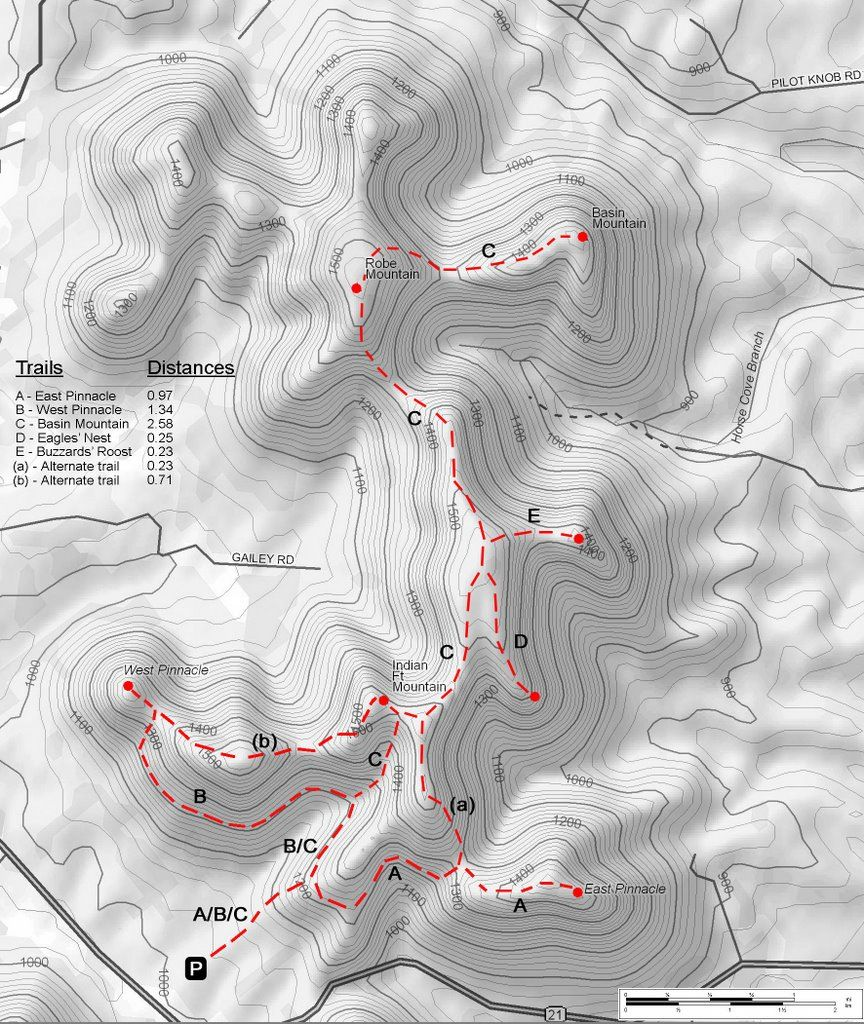 Pinnacles at Berea Forest Hiking Map Hiking Trail Maps Pinterest