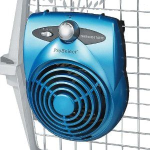 Proselect Deluxe Thermostatic Pet Crate Fan Ice Blue From Petedge