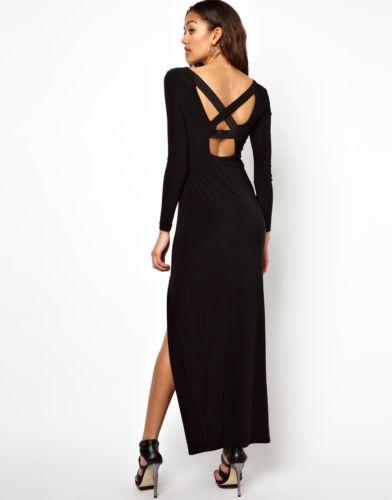 River island long sleeve maxi dress