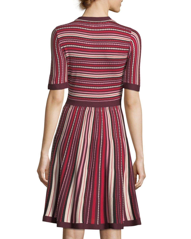 8d7830b0bb45 Kate Spade New York short-sleeve multi-stripe sweater dress ...