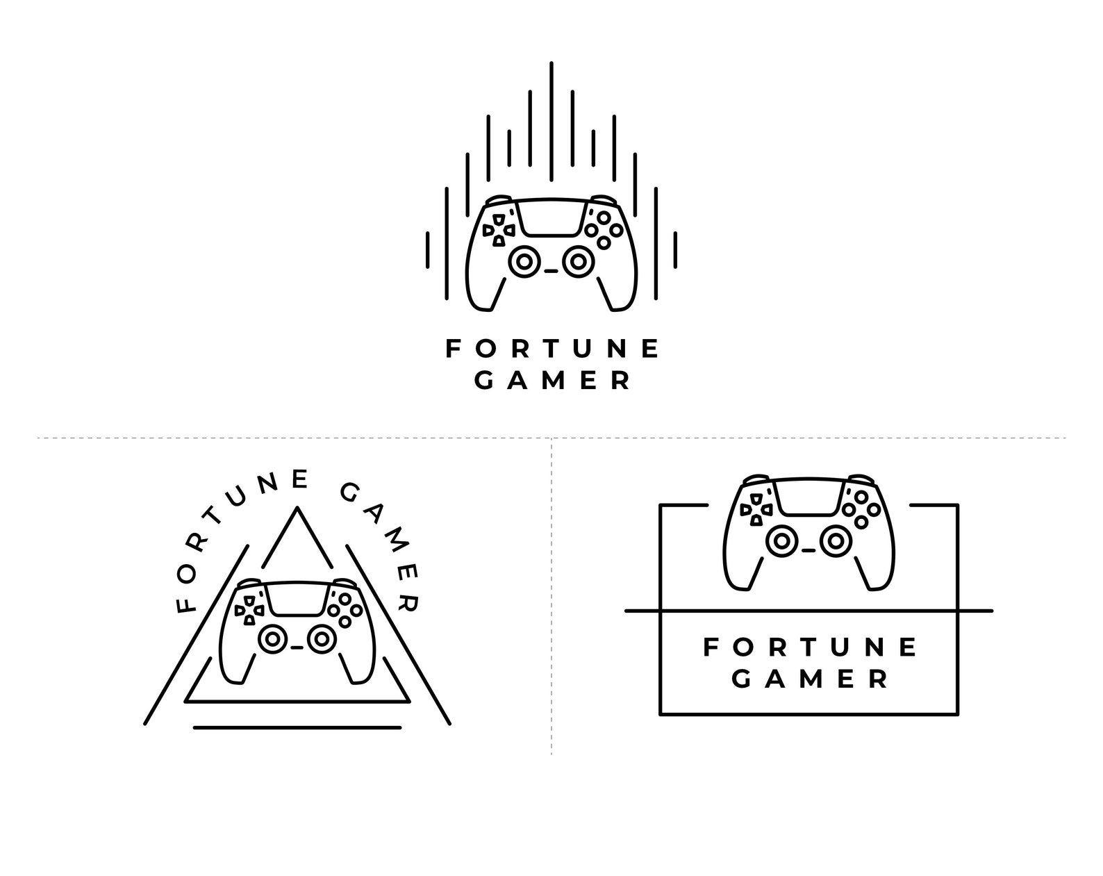 Premade Neon Logo Design, Youtuber Logo, Gamer Logo