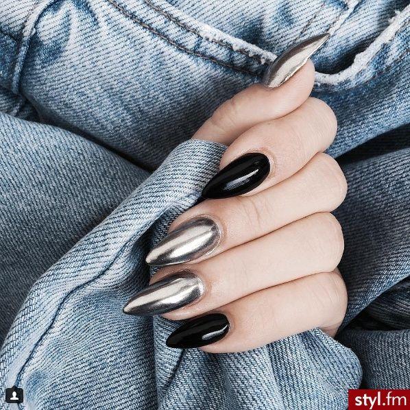 0FFICIALZAV uñas Pinterest Diseños de uñas, Manicuras y Arte - uas efecto espejo