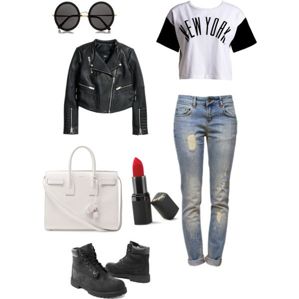 A fashion look from November 2014 featuring :CHOCOOLATE t-shirts, H&M jackets and Anine Bing jeans. Browse and shop related looks.
