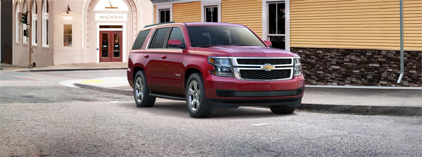 Exterior View For Crystal Red Tintcoat Chevrolet Tahoe Chevy