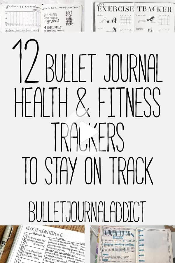 Health and fitness trackers for your bullet journal can be used for so much more than just getting i...
