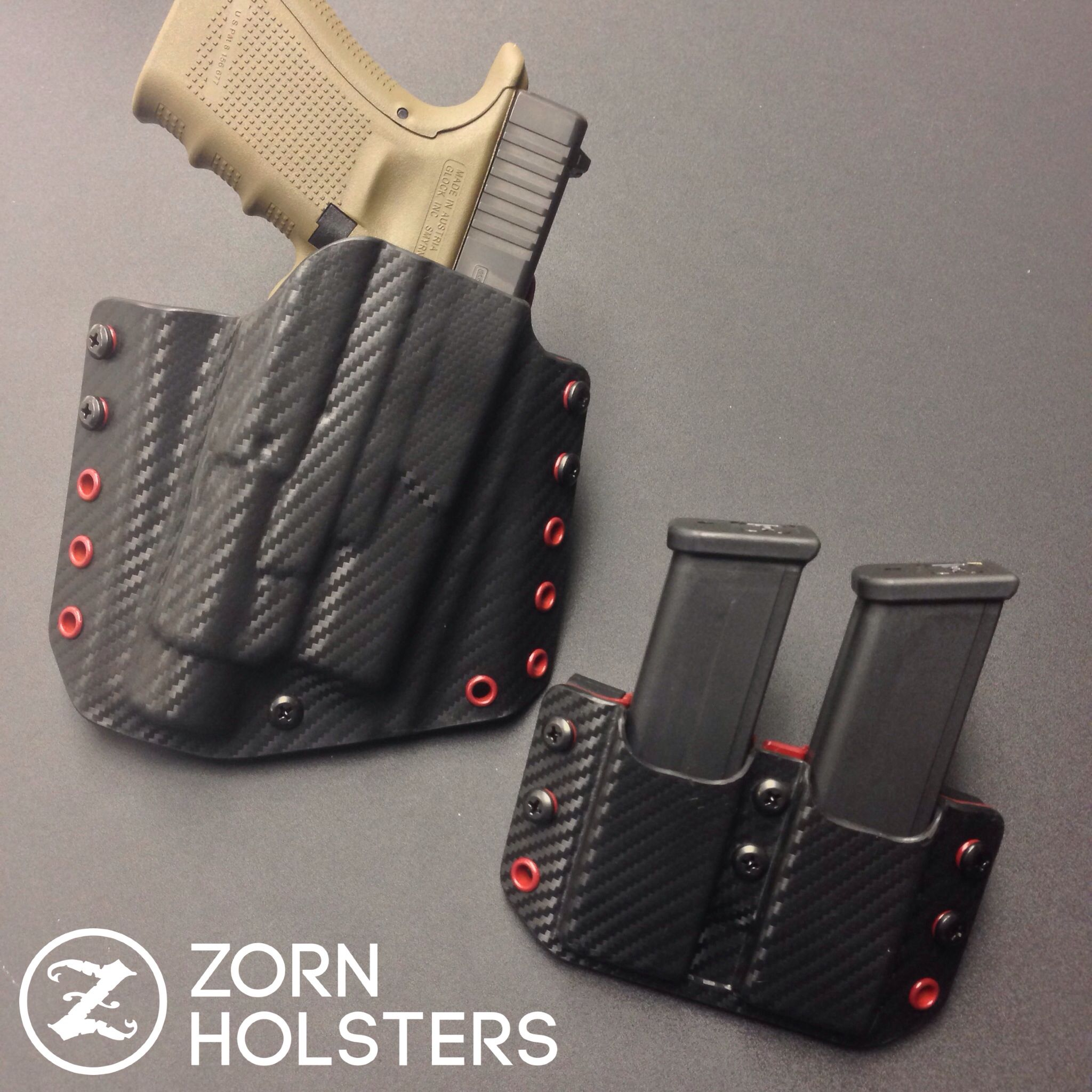 Glock Magazine Holder Trojan Holster and double magazine pouch for the Glock 41 with a 33