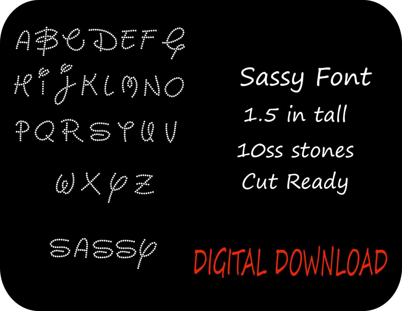rhinestone alphabet font letters template sassy disney type font