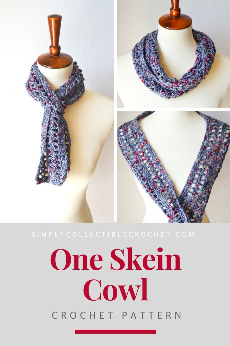 FREE CROCHET PATTERN: One Skein Cowl Crochet Pattern; The perfect ...