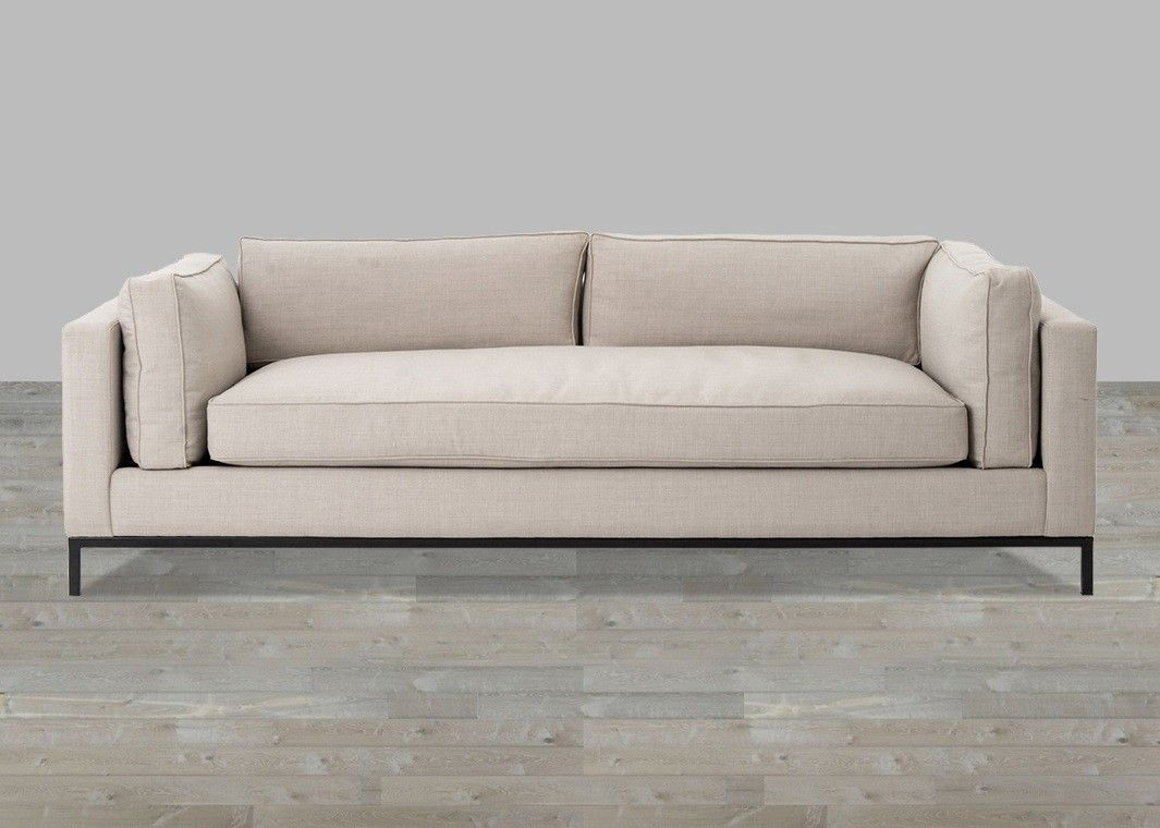 Charcoal Linen Sofa With Single Seat Cushion In 2019 Muebles Con