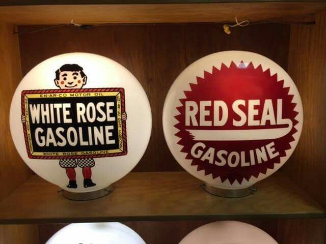 White Rose & Red Seal Gas Globes