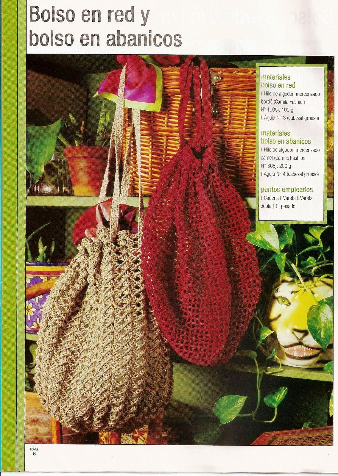 Bolsa de Red de Crochet Patron | teje que teje | Pinterest ...