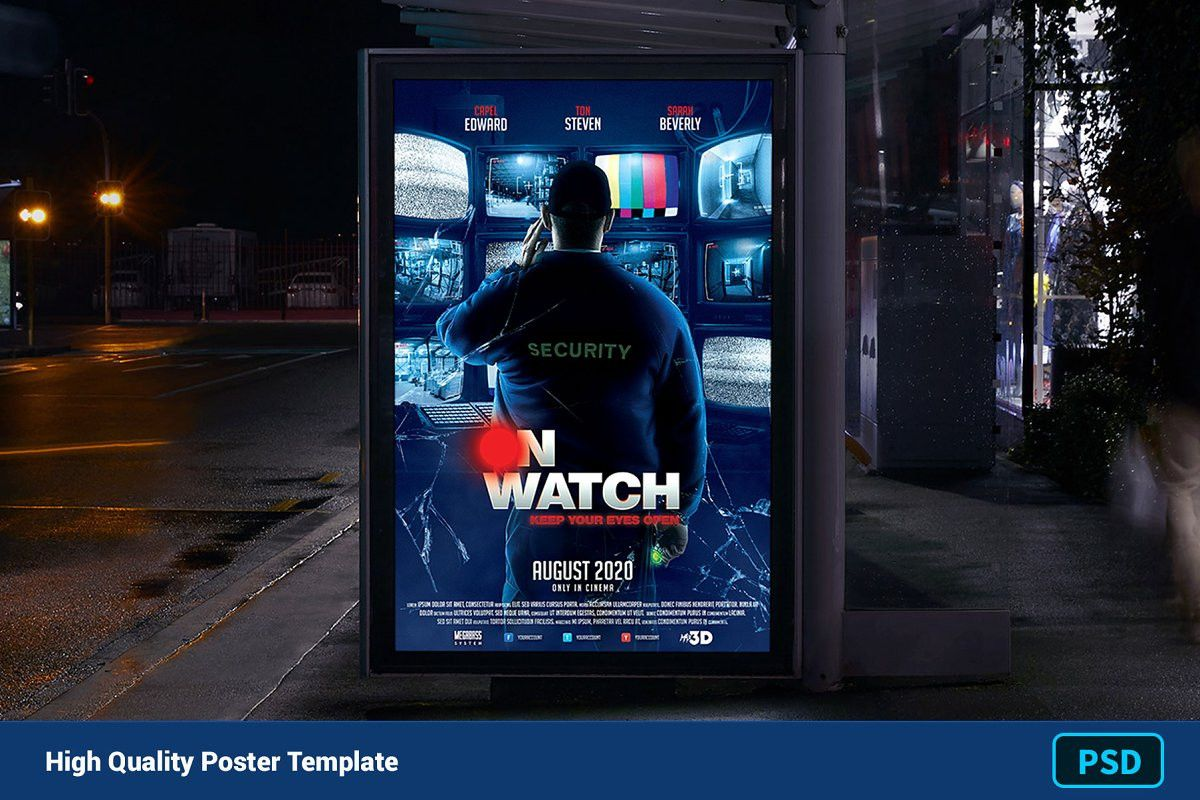 Free Horror Powerpoint Template Inspirational Movie Poster Template On Watch Poster Template Movie Poster Template Free Psd Flyer Templates