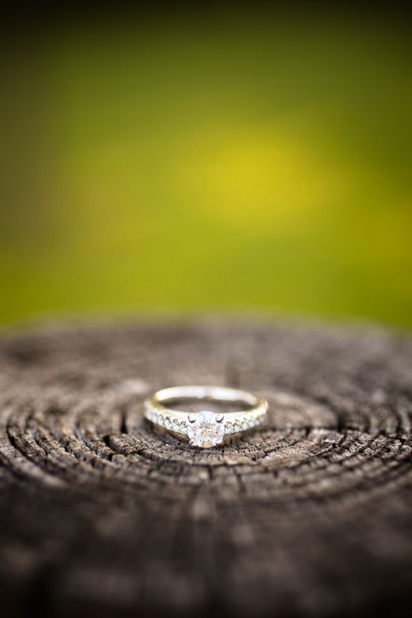 LOVE the ring on the wood! I might have to do this with my own ring!! hehe
