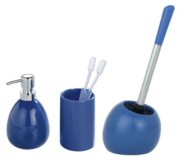 Dieses elegante Badaccessoires-Set in blau ist aus hochwertiger ... | {Badaccessoires holz 18}