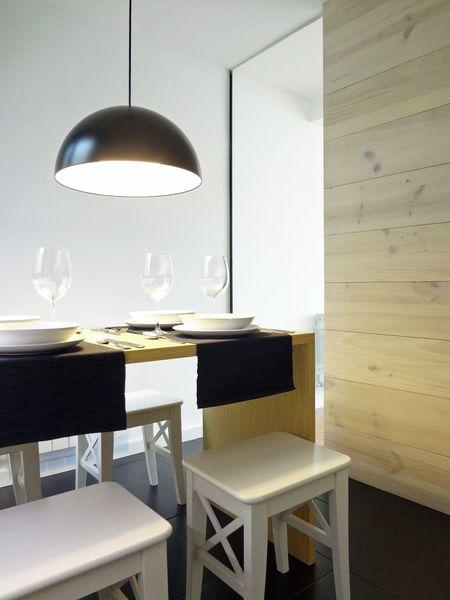 davidMUSER building & design. Cocina moderna semi abierta al salon ...