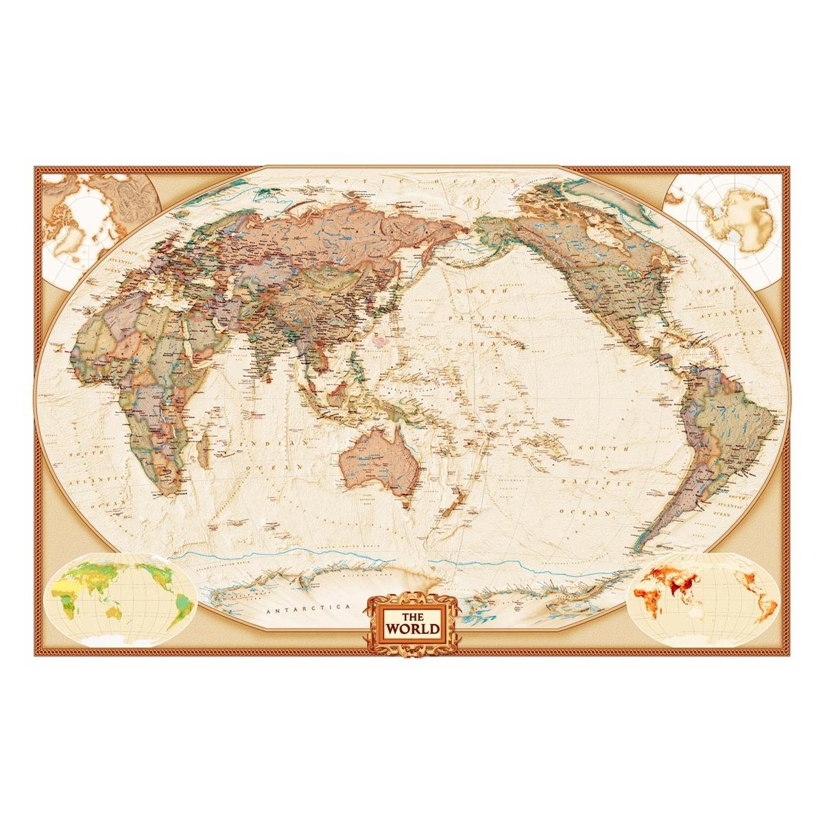 Would love a massive map on the wall peters projection in national geographic world executive pacific centered map giant poster posters par national geographic sur allposters gumiabroncs Gallery