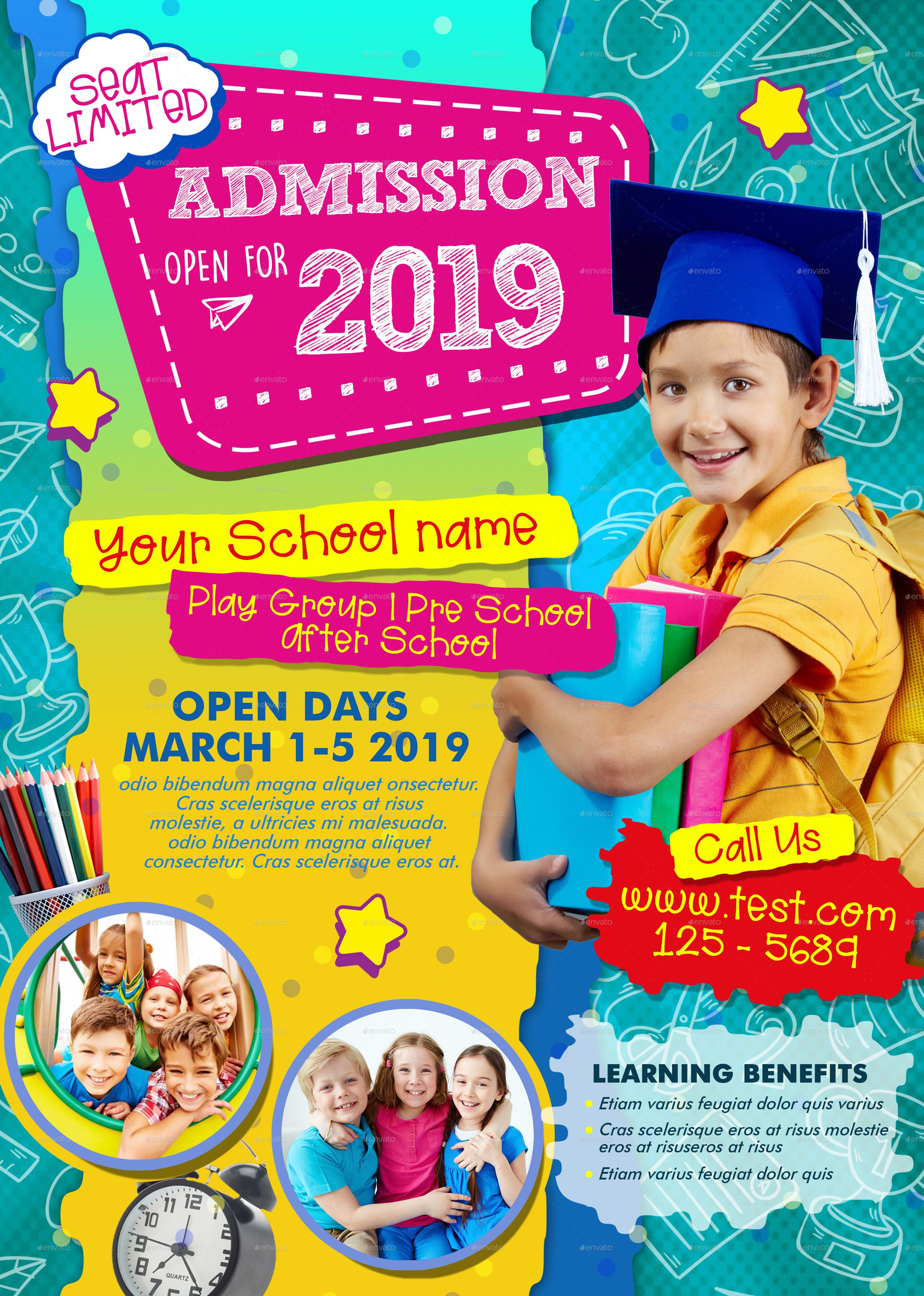 Advertisement School Admission Poster