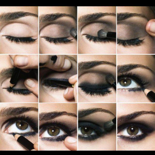 Step by step dramatic eyes