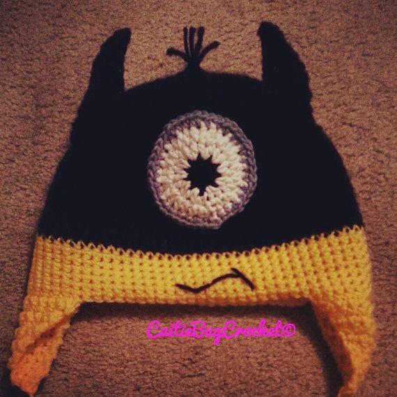 Crochet Batman Hat Minion Hat Batman Minion by CaitieBugCrochet ...