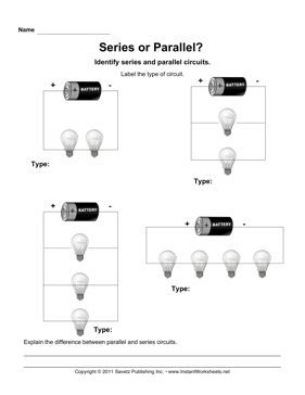 Series Parallel Circuits Series And Parallel Circuits Circuits Science Series Parallel