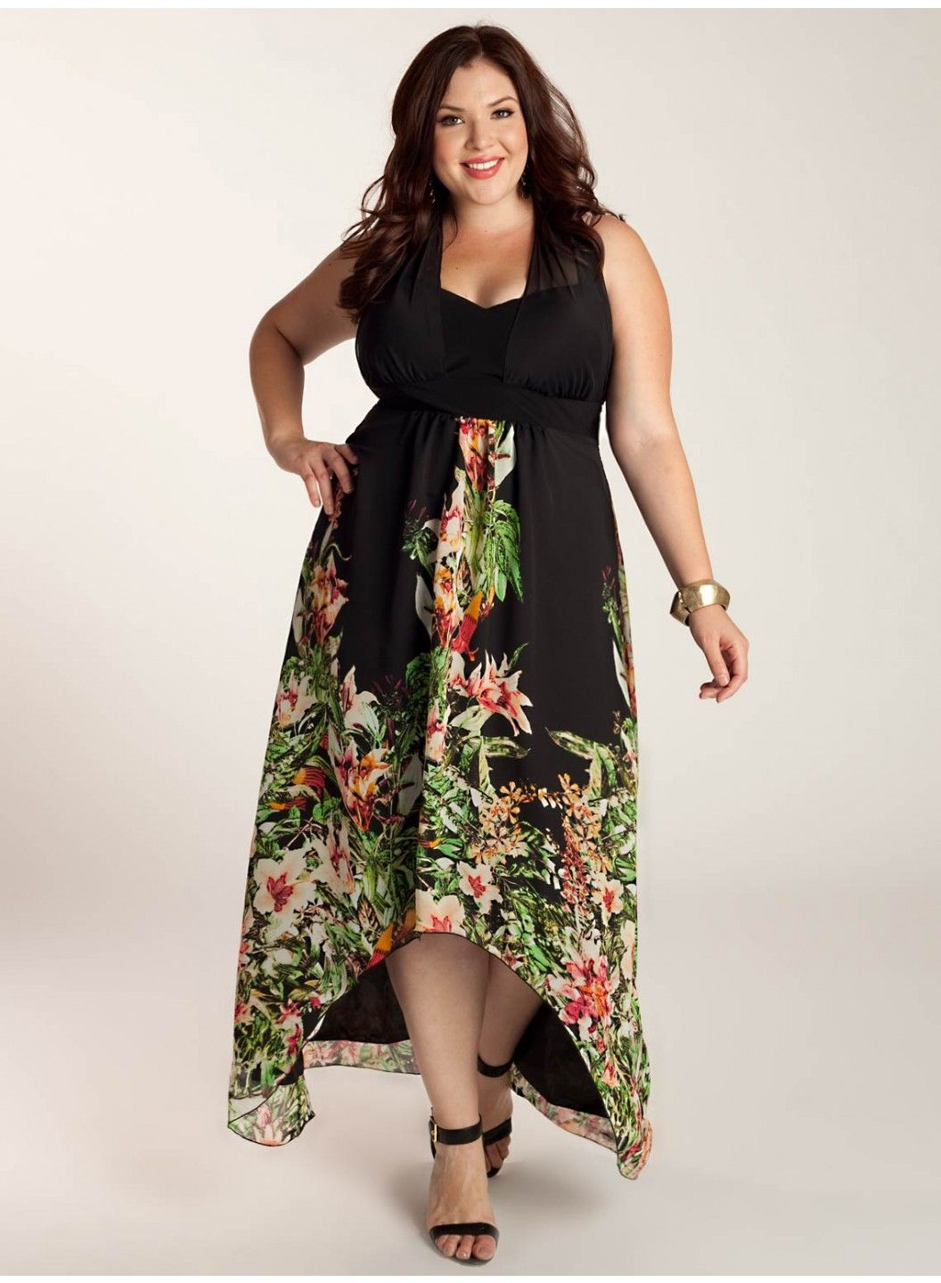 Agnella Plus Size Maxi Dress [3A0052BCK] - $190.00 : Plus Size ...