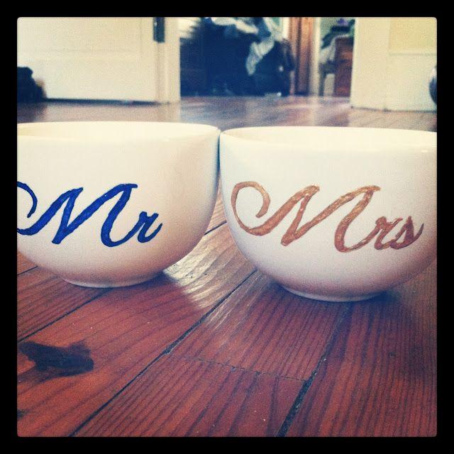 Diy Mr Mrs Mugs Great Handmade Wedding Gift Gifts Pinterest