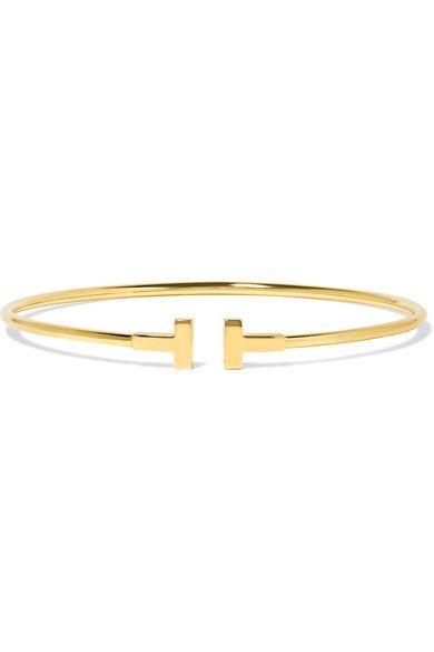c7780a525 Tiffany & Co. - T Wire Narrow 18-karat gold bracelet in 2019 ...